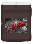 Crimson Foliage Duvet Cover