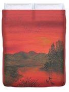 Crimson Lake Duvet Cover