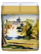 Crisp Water Fountain At The Baptist Home II Duvet Cover