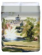 Crisp Water Fountain At The Baptist Home IIi Duvet Cover