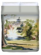 Crisp Water Fountain At The Baptist Home  Duvet Cover by Kip DeVore
