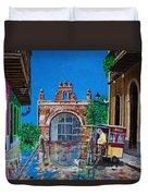Capilla De Cristo - Old San Juan Duvet Cover