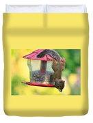 Critter Acrobat Duvet Cover