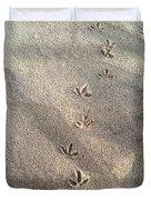 Critter Tracks In The Sand Duvet Cover