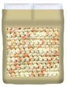Crochet Rag Rug In Pastel Colours Duvet Cover