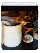 Crock And Basket Duvet Cover by Susan Savad