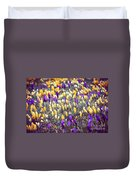 Crocus Field Duvet Cover