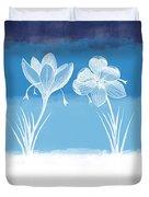 Crocus Flower Duvet Cover