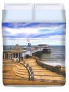 Cromer Pier Norfolk Duvet Cover