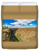Crooked River Canyon And Bridge Duvet Cover