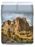 Crooked River Towers Duvet Cover