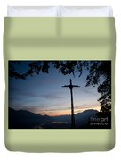 Cross On The Mountain Duvet Cover