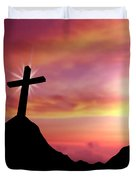Cross Duvet Cover by Aged Pixel