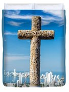 Cross And City Duvet Cover