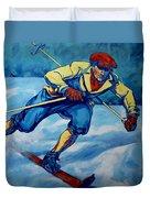 Cross Country Skier Duvet Cover