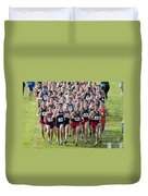 Cross County Race Duvet Cover