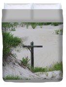 Cross In The Dunes Duvet Cover