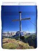 cross on Crepa Neigra peak Duvet Cover