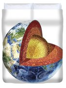 Cross Section Of Planet Earth Showing Duvet Cover