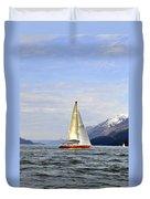 Cross Sound Sailboat Duvet Cover