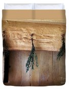 Crossbeam With Herbs Drying Duvet Cover