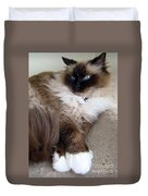 Crossed Paws Duvet Cover