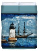Crossing Into The Harbor Duvet Cover