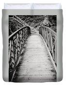 Crossing Over - Black And White Duvet Cover