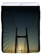Crossing The Severn Bridge At Sunset - Cardiff - Wales Duvet Cover