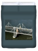 Crossing The Thames Duvet Cover