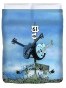 Crossroads In Clarksdale Duvet Cover