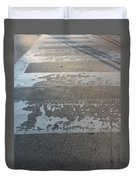 Crosswalk Shadow 1 Duvet Cover