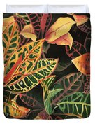 Croton Leaves Duvet Cover