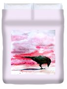 Crow At Dawn Duvet Cover