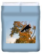 Crow In Flight 3 Duvet Cover