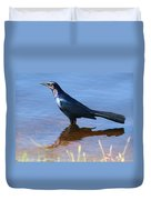 Crow In The Water Duvet Cover