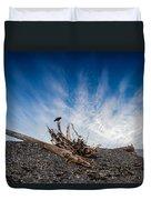 Crow On Driftwood Duvet Cover