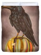 Crow On Marble Edit 3 Duvet Cover