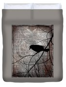 Crow Thoughts Collage Duvet Cover