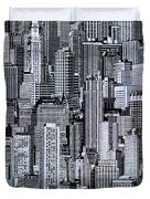 Crowded City Duvet Cover