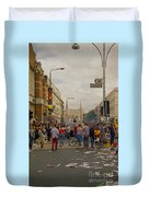 Crowds At Carnival Notting Hill Celebrations Duvet Cover