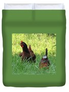 Crowing Rooster Duvet Cover