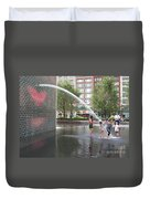 Crown Fountain Play Duvet Cover