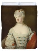 Crown Princess Elisabeth Christine Von Preussen, C.1735 Oil On Canvas Duvet Cover