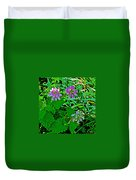 Crown Vetch And Catnip In Pipestone National Monument-minnesota Duvet Cover