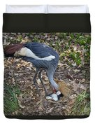 Crowned Crane And Eggs Duvet Cover