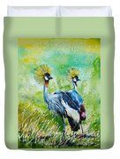 Crowned Cranes Duvet Cover