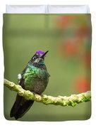 Crowned Hummingbird Duvet Cover