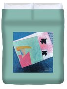 Crows And Geometric Figure Duvet Cover