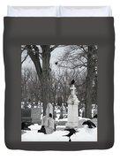 Crows In Gothic Winter Wonderland Duvet Cover